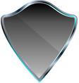 silver metallic shield icon vector image vector image