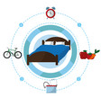 sleep time concept vector image
