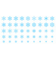 snowflake simple color line icons snow set vector image vector image