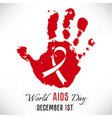 stop aids poster vector image vector image