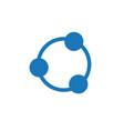 teambuilding social and relationship circle icon vector image vector image