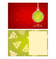 template greeting card with copy space vector image