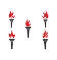 torch logo icon design vector image vector image