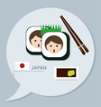 Travel collection Japan vector image vector image
