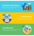 Travel Horizontal Flat Banners Set vector image vector image