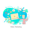 video marketing modern technologies and media vector image vector image