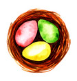 watercolor easter eggs vector image vector image
