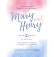 watercolor wedding invitation color 2016 rose vector image vector image