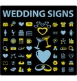 wedding signs vector image