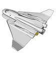 white fantasy space shuttle on white background vector image