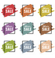 winter sale icon styled set vector image vector image