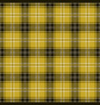 yellow tablecloth tartan plaid seamless pattern vector image vector image