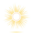 sun rays circle frame vector image