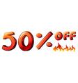 A big discount vector image vector image