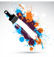 art drawn funky created with splashes and inky vector image