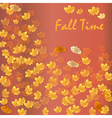Autumn time seasonal banner vector image