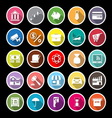 Banking and financial flat icons with long shadow vector image vector image
