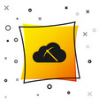 black cryptocurrency cloud mining icon isolated on vector image vector image