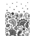 border indian floral paisley patten seamless vector image vector image