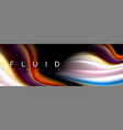 bright colorful liquid fluid lines on black vector image vector image