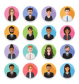 businessmen and business women avatars vector image vector image