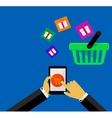 Buy online buy now vector image vector image