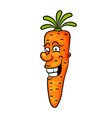 carrot icon in a flat design vector image vector image