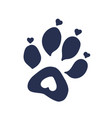 cat or dog paw print tattoo design vector image