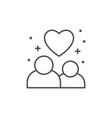 couple in love line outline icon vector image