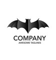 creative minimalist bat logo vector image vector image