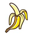 cute cartoon banana icon vector image