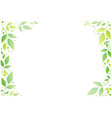 decorative frame of green leaves on white vector image