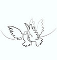 dove flying two pigeons logo vector image vector image