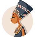 egyptian queen nefertiti cartoon vector image