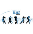 five couples dancing argentinian tango city vector image vector image