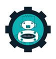gear wheel with a robot icon vector image vector image