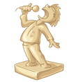 golden statuette of the best singer vector image