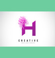 h letter logo design with purple colors vector image vector image