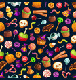 halloween sweet treats seamless pattern vector image