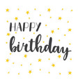 happy birthday greeting card greeting logotype vector image vector image