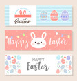 Happy easter horizontal banner bookmark flyer