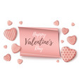 happy valentines day background template on white vector image vector image