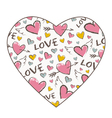 Heart shape texture vector image vector image