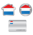 Home icon on the Luxembourg flag vector image vector image