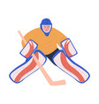 ice hockey adult male player as goaltender vector image vector image