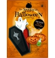 Invitation placard to Spooky Halloween Party vector image vector image