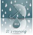 Its raining vector image vector image