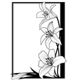 lily frame in black vector image vector image
