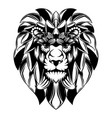 lion head with big mane as flowers vector image vector image