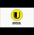 logo for business letter u vector image vector image
